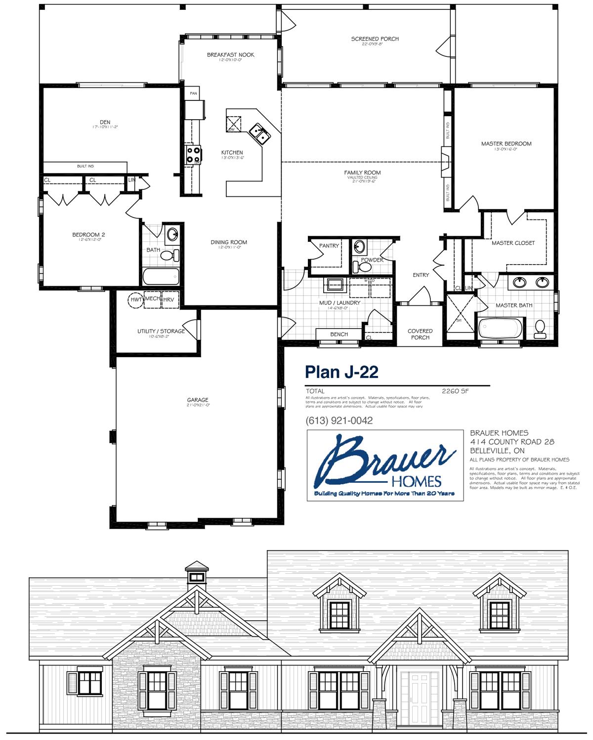 Brauer Build Plan J-22